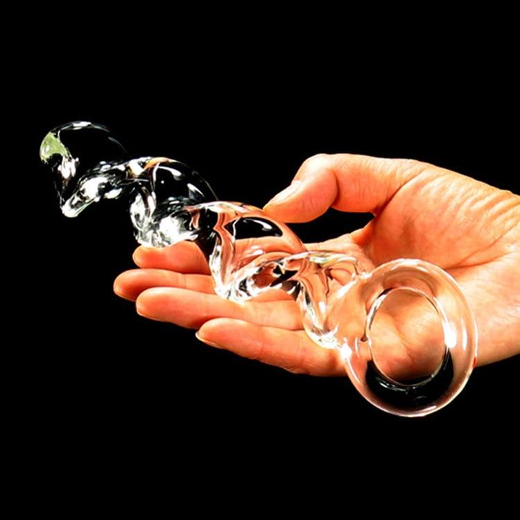 Consolador de cristal de 20x2,8 cm, Juguetes sexuales para mujer, juguetes para adultos, masturbador, tienda erótica, Juguetes