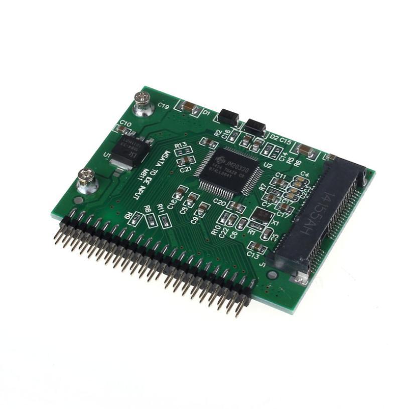 ¡Oferta! ¡precio de fábrica! MOSUNX mSATA SSD a 44 pines IDE Adaptador convertidor como IDE HDD de 2,5 pulgadas para portátil J09T triangulación de envío