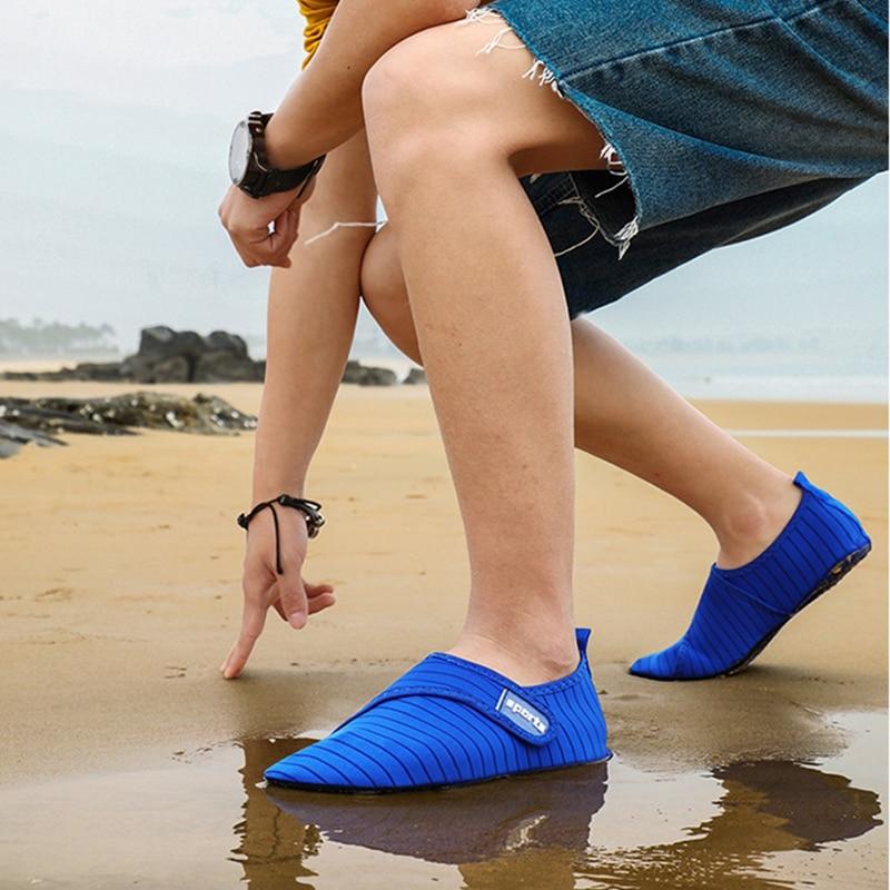 Nuevos zapatos de agua para hombre, zapatilla de playa para mujer de talla 49, zapatillas transpirables para agua corriente arriba, zapatos para agua, sandalias para nadar y pescar