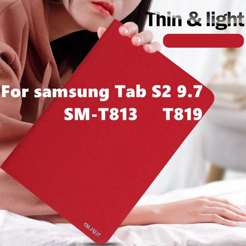 Для samsung Tab S2 9,7 чехол SM-T813 T819 тонкий умный чехол для Samsung Galaxy Tab S2 9,7 SM-T810 T815 планшет с чехлом