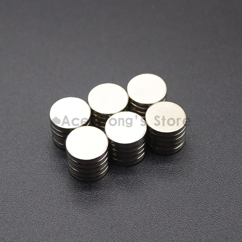 10 Uds Mini imán pequeño N35 5x1 6x2 8x3 10x1 10x2 12x2mm imán de neodimio imanes permanentes NdFeB súper fuertes potentes