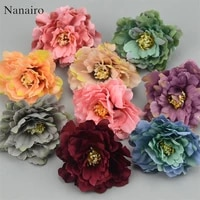 30pcs 6cm european artificial carnation flower head for wedding home decoration diy corsage wreath fall vivid fake silk flowers