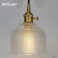 Art deco latticed verre suspension lampe nordique vintage salle a manger maison hotel restaurant japon lumiere cuivre verre suspension