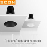 SCON 5W/9W LED Frameless Spotlight COB Embedded Ceiling light hotel office wall washing lamp CRI Ra>93 Commercial Light