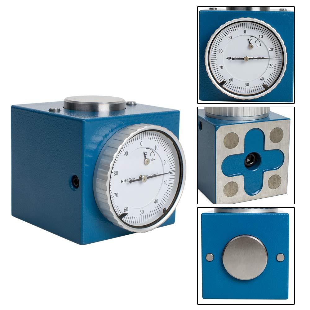 """Dial de herramienta del eje Z magnético Zero Pre Setter. 001 """"Gage Offset CNC rango métrico 0-2mm o tamaño en pulgadas 0-0,1"""""""