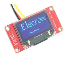Elegrow-Módulo de pantalla OLED 128x64, matriz de puntos OLED I2C 128x64, Kit DIY con Cable de 4 pines