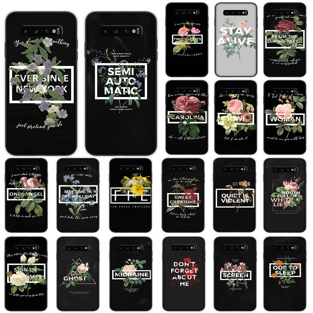 Мягкий чехол Pilots Harry Styles Song Lyrics Flower для Samsung Galaxy S10 Plus S10e S7 S6 Edge S8 S9 Plus J6
