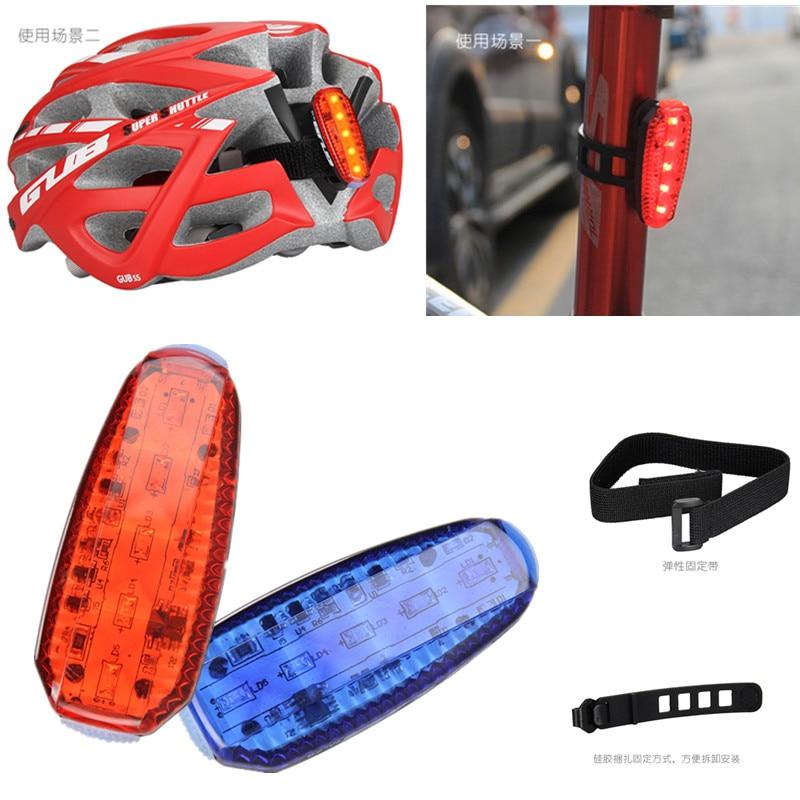 Faro delantero y trasero para bicicleta, a prueba de agua, LED, luz roja, linterna de advertencia de seguridad, T43