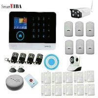 SmartYIBA systeme dalarme anti-cambrioleur   GSM sans fil  RFID securite WIFI  systeme de camera camera IP exterieur  detecteur de fumee  application