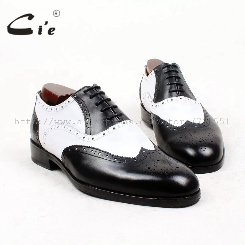 Cie/мужские полные броги с закругленным носком, медальоны, белые, черные, смешанные цвета, 100% натуральная кожа, мужские туфли на заказ, кожаные туфли на плоской подошве, OX439
