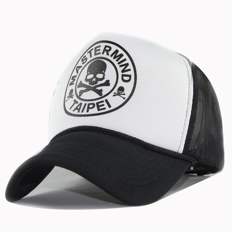 Men Women Couple SunShade Cotton Sports Breathable Baseball Mesh Cap Skull Pattern Sunscreen Hat Summer Hip Hop Sun Hats P43
