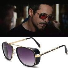 Rossi Coat lunettes de soleil   Iron Man 3 Matsuda TONY Stark, lunettes de soleil de styliste rétro pour hommes, Steampunk lunettes Oculos Masculino Gafas