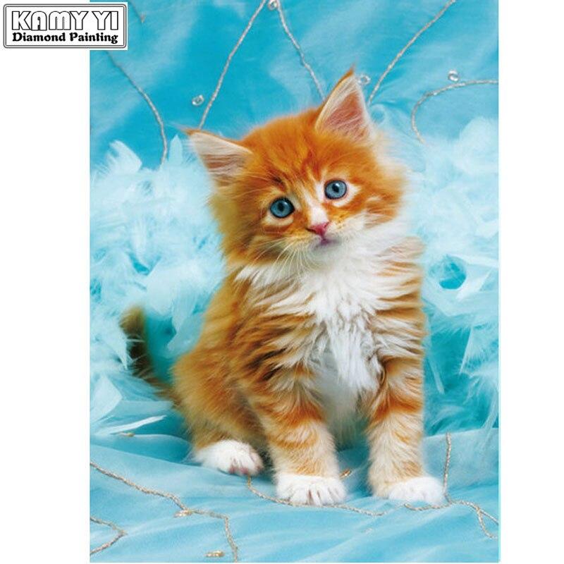 Full,5D DIY Diamond Painting Cross Stitch,Animal,Diamond Embroidery,Cat,3D,Mosaic Diamont accessories sale LK1