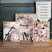 Affiches et imprimes nordiques a fleurs de pivoine roses  peinture sur toile  images dart mural pour decoration de maison