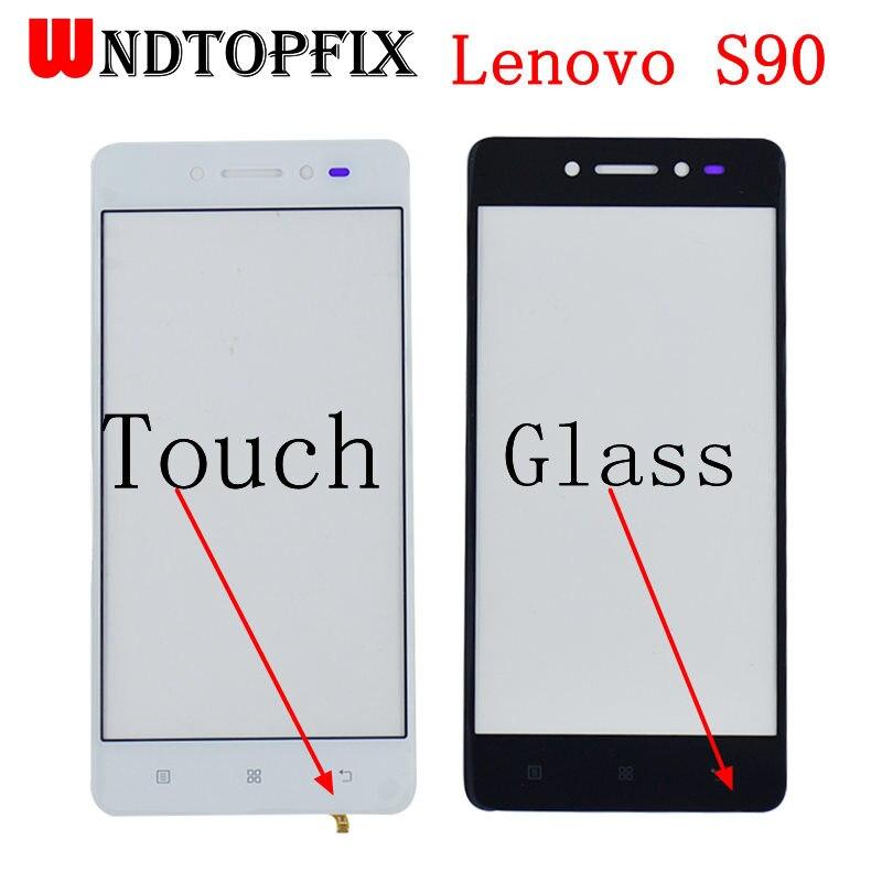 "5,0 ""Lenovo S90 digitalizador de Lentes de vidrio exterior frente pantalla táctil Panel S90-T S90-U S90-A frente de vidrio LensReplacement partes"