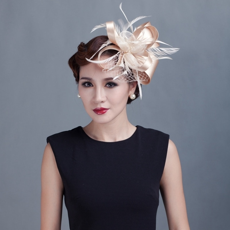 AliExpress - Women Cocktail Chic Fascinator Hat Church Headpiece Wedding Fashion Headwear Lady Party Formal Hair Accessories