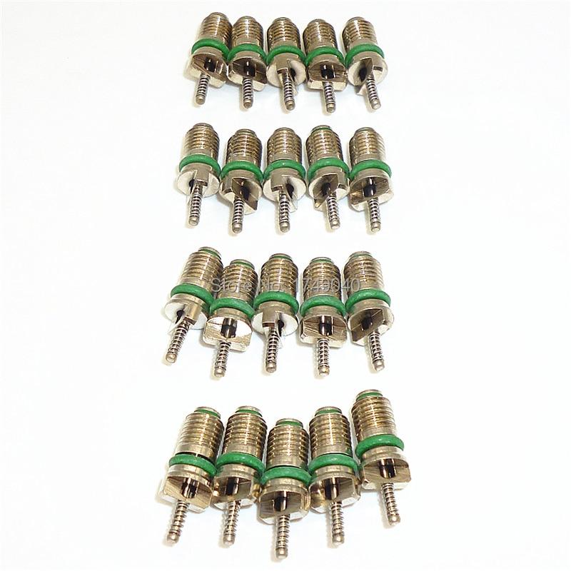 20 шт. R134a автомобильный бытовой кондиционер воздуха хладагенты 134a HVAC AC A/C клапанные клапаны иголки Набор для ремонта