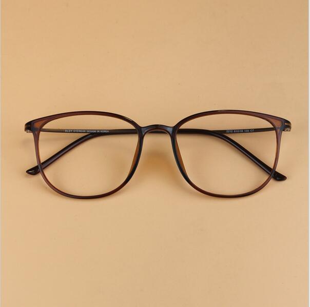 Men's Vintage Brand Ultra-light Geek Carbon Steel Glasses Frame Women Super Big Nerd Frame Decorative Myopia Eyeglasses frame