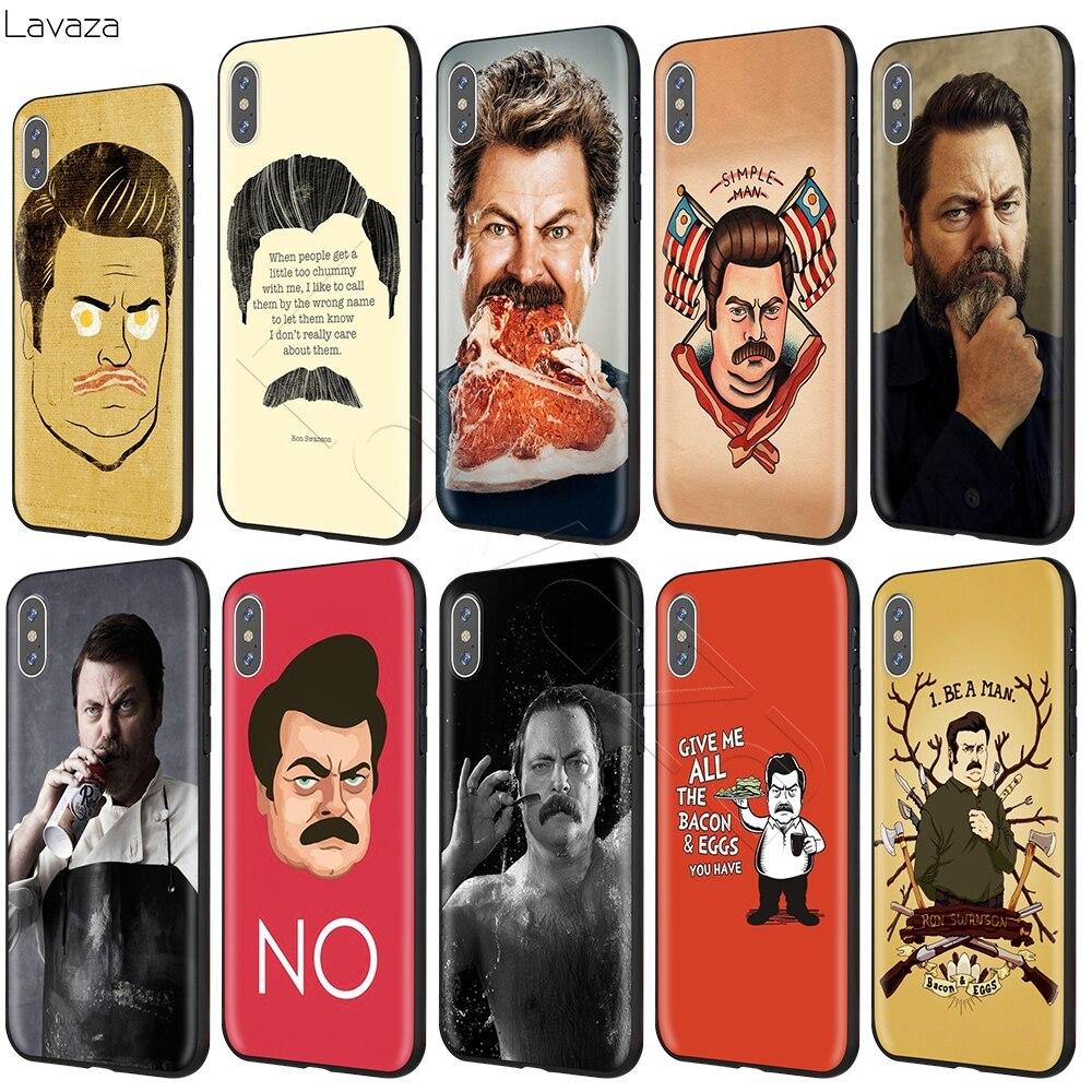 Ron Swanson Lavaza Case para iPhone 11 XS Pro Max XR X 8 7 6 6S Plus 5 5S se