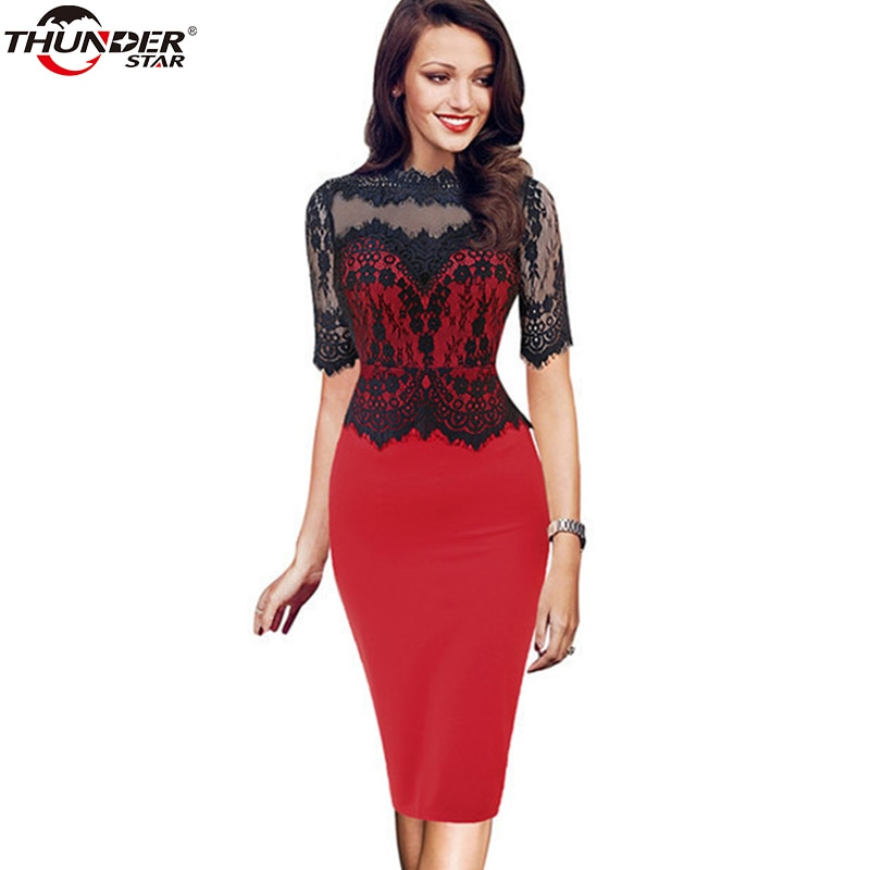 Vintage Sexy Tassel Lace Peplum Bodycon Dress Women See Through Mother Of Bride Evening Party Short
