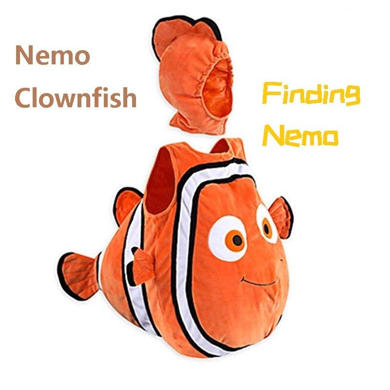 Pez payaso de Buscando a Nemo cospaly, disfraz de Pixar, película animada Nemo, ropa para niños, fiesta de Navidad de Halloween