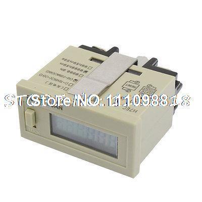 Acumulador de tiempo de reinicio DC 24V, pantalla LCD 0-9999h59m, contador H7ET-BVM