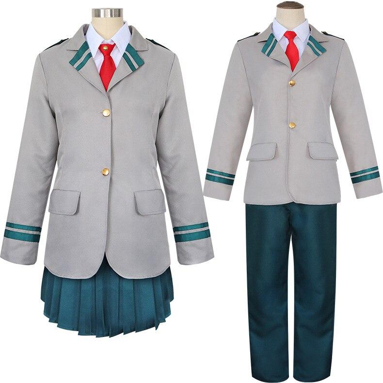 Mi héroe Academia Boku no Hero Akademia Todoroki Shoto Ochaco Uraraka uniforme de la escuela traje Anime Halloween del traje de Cosplay