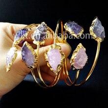 Exclusivité WT-B183! Bracelets de bracelet de flèche en pierre brute naturelle magnifique, bracelets de pierre double hotsale de mode