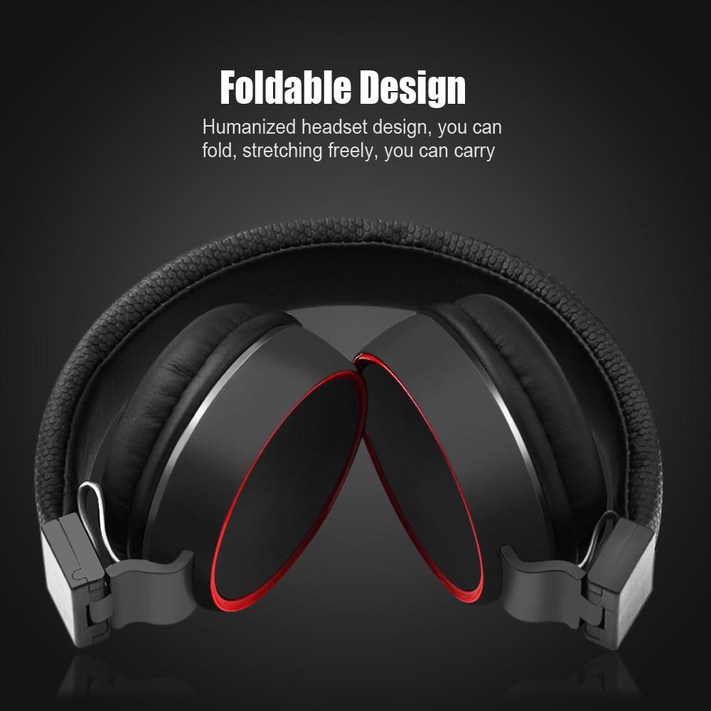 Alta diadema de calidad plegable auriculares estéreo de alta fidelidad auriculares para PC MP3/4 teléfono móvil deportes auriculares con micrófono cable de control