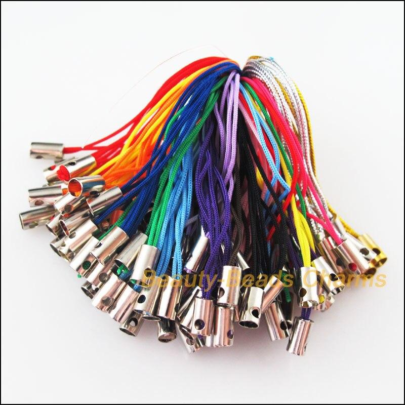 Moda 100 Uds. Mixto teléfono móvil colgar cuerdas hilos 52mm