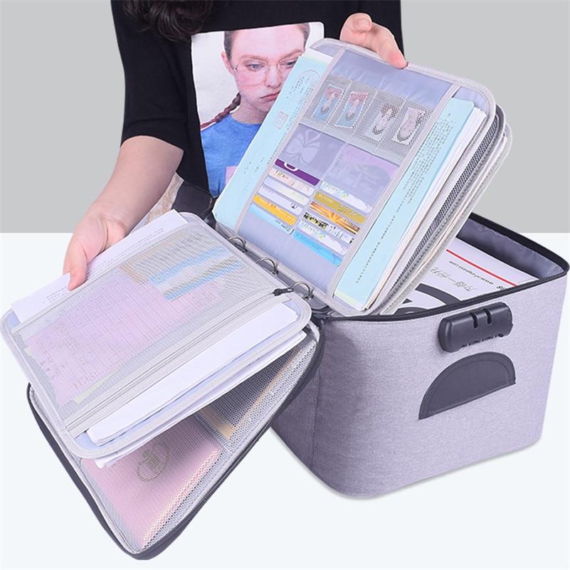 Вместительная Сумка для документов, водонепроницаемый органайзер для документов, дорожный мешочек для документов