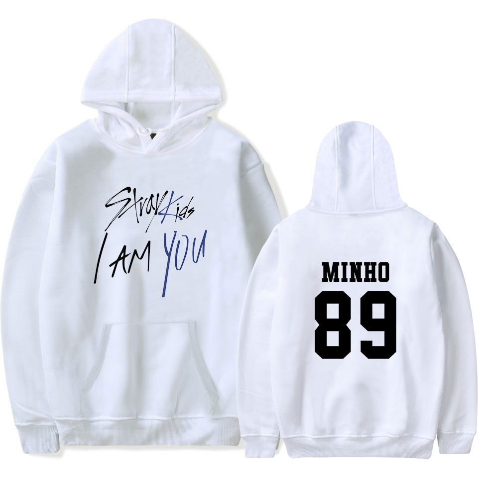 2018  Stray Kids I Am You Idol oversized hoodies sweatshirts women Unisex Member Hyun Jin cotton long sleeve Hip Hop Clothes