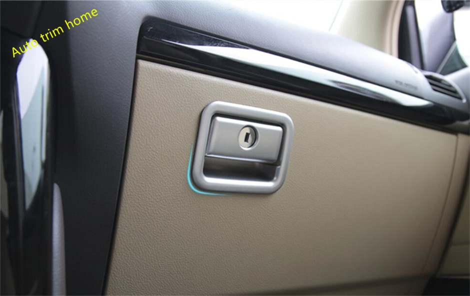 Lapetus Accessories Fit For Toyota Land Cruiser Prado FJ150 2014 - 2020 The Copilot Glove Storage Box Handle Frame Cover Trim