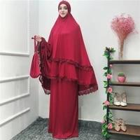 abaya dubai turkey islam hijab muslim dress set kaftan abayas for women jilbab caftan prayer clothing ramadan elbise robe femme