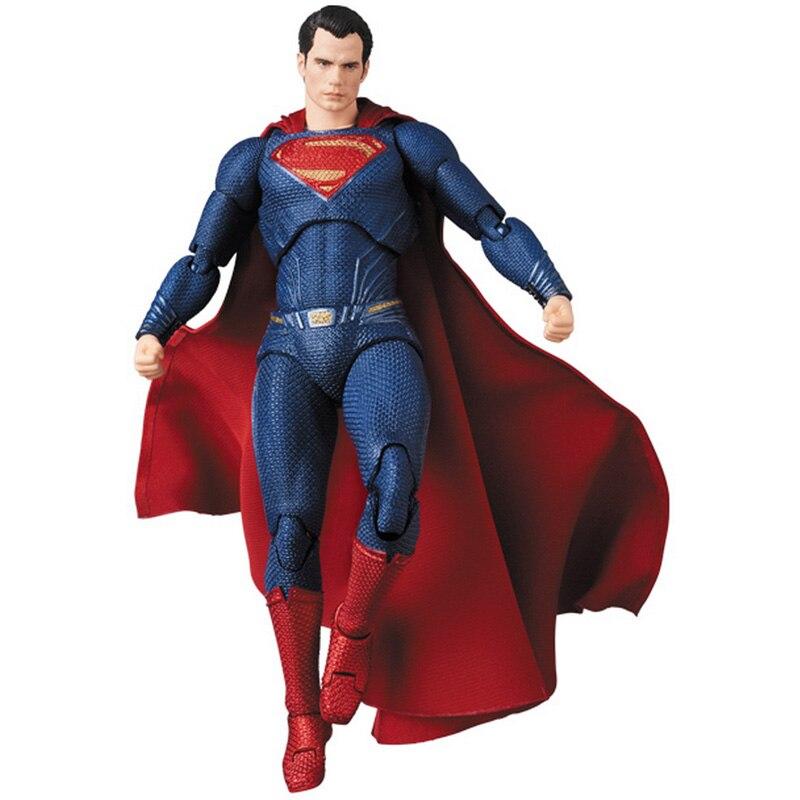 16cm DC Superman MAFEX 057 Liga de la justicia Superman colección de figuras de acción modelo BJD juguetes de regalo