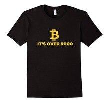 2019 el más nuevo de los hombres divertido Bitcoin comercial camisa Bitcoin más de 9000 Crypto de la minería de Bitcoin BTC poco. Camisas de la banda