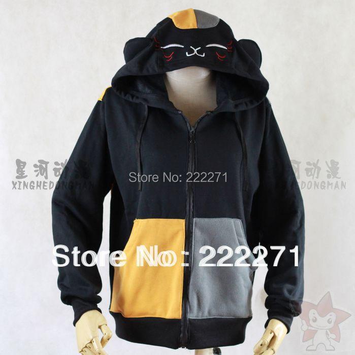 Natsume Yuujinchou Nyanko Sensei Cosplay disfraz ropa suéter ropa mujer sudaderas con capucha sudadera camisetas negro libre pista Anime