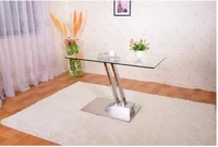 dual lifting table change table sitting room multi functional toughened glass stainless steel tea table