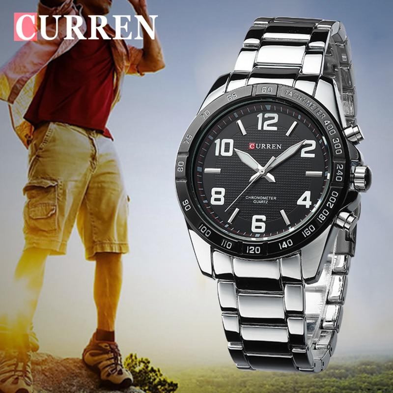 Relojes CURREN para hombre de marca superior, relojes de pulsera militares de lujo, reloj de negocios de acero para hombres, reloj impermeable xfcs