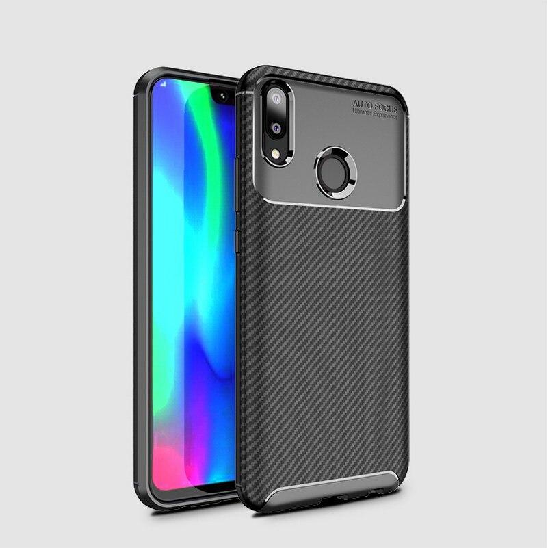 Caja de lujo del teléfono para Huawei Y9 2019 armadura Fundas de...