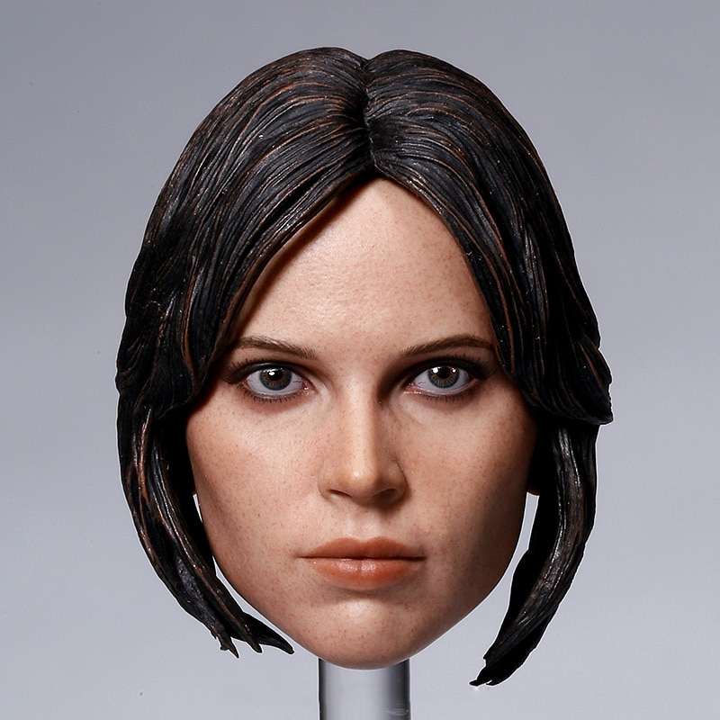 1/6 Scale Female Head Sculpt Accessory Felicity Jones Head Carving Model Toys for 12 inches Action Figure Body in stock gc018 1 6 scale beauty european girl head sculpt ivanka trump head carving toy 4 styles for 1 6 female action figure