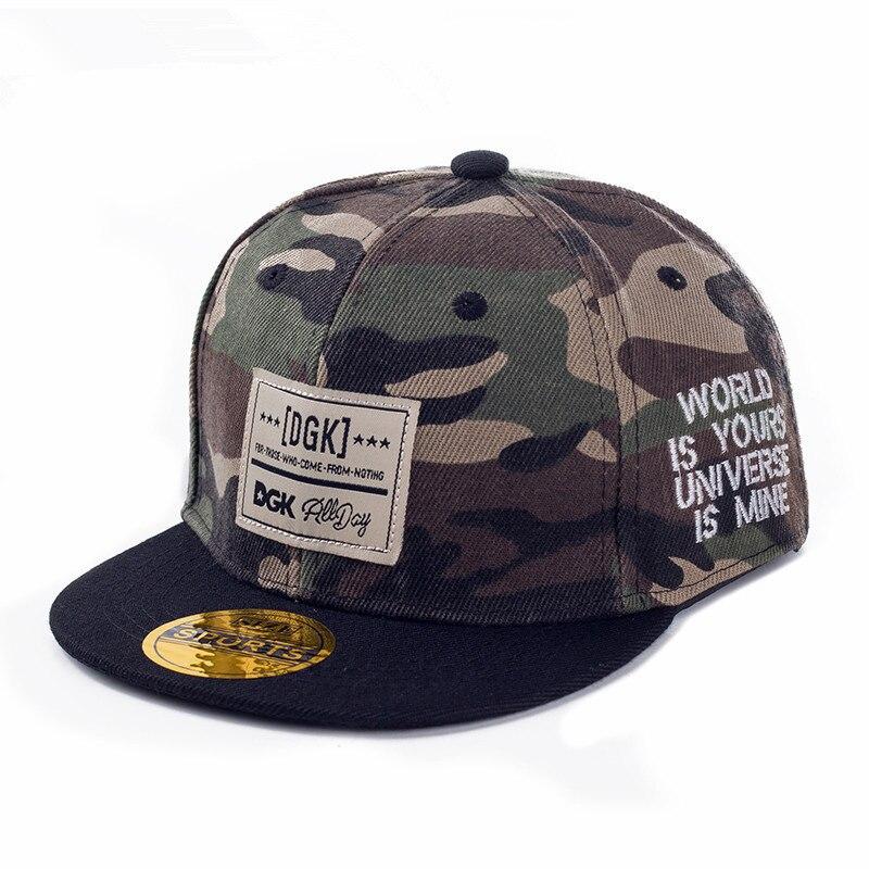 Брендовая бейсболка gorras, камуфляжная сетчатая Кепка с узором DGK, Кепка в стиле хип-хоп с плоским язычком для мальчиков, бейсболка для девочки, шляпа от солнца, подходящие шапки