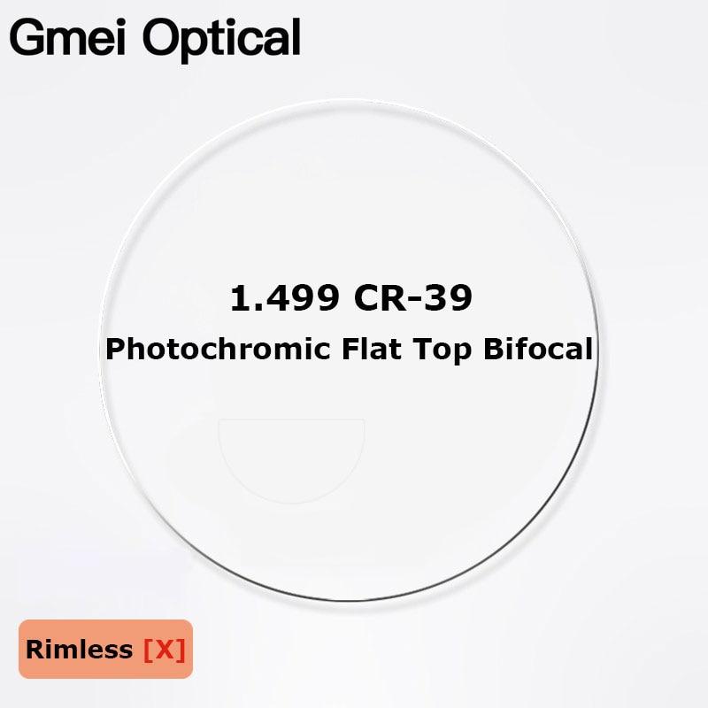 1.499 CR-39 Photochromic Flat Top Bifocal Prescription Glasses Optical Lenses Round Top Bifocal Optical Spectacle Lenses 2 Pcs