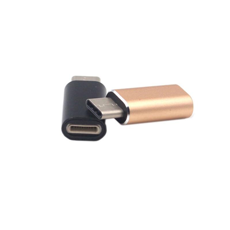 Schnelle Lade Für Blitz Weiblichen Zu Typ-C USB-C Männlichen Ladegerät Kabel Adapter Lade Typ-C Aluminium Legierung konverter