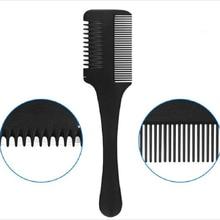 1 قطعة مشط تقسيم الشعر مقبض أسود فراشي شعر مع شفرات حلاقة قطع ترقق قلص صالون الشعر لتقوم بها بنفسك أدوات التصميم