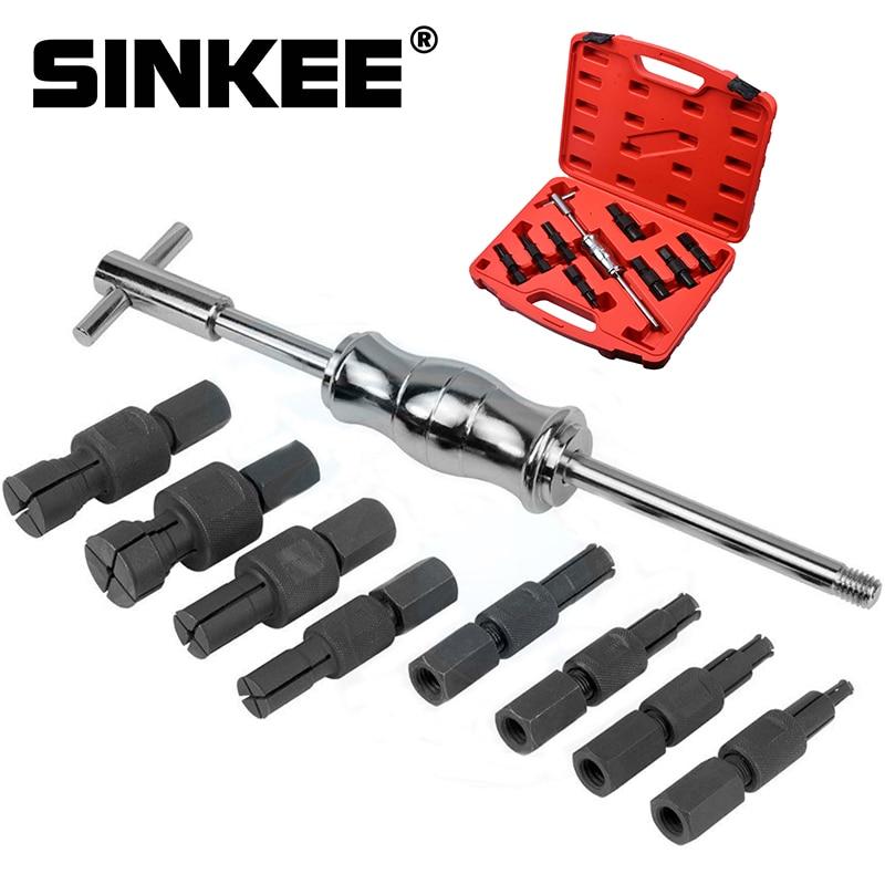 9pc Blind Hole Kit Slide Hammer Pilot Internal Bearing Puller Bearing Extractor Removal Kit SK1034