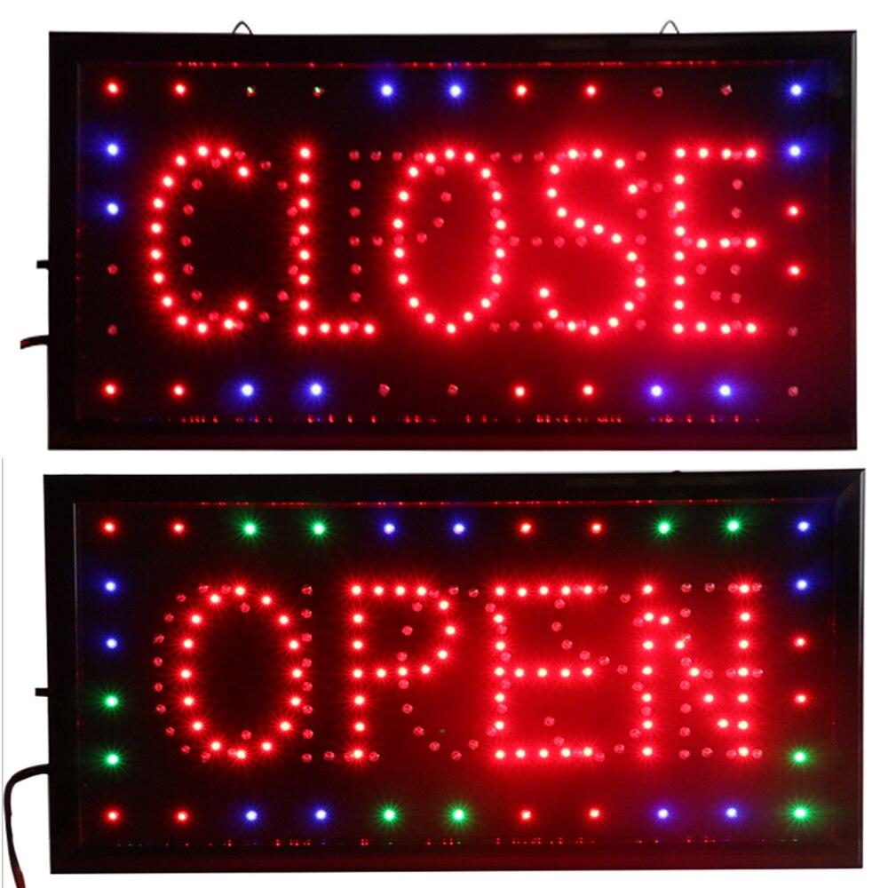 CHENXI abrir y cerrar 2 en 1 LED señal almacén neón tienda de negocios abrir cerrado publicidad interruptor de encendido/apagado 19*10 pulgadas cartelera.