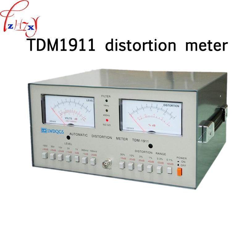 1 Pza TDM 1911 máquina de prueba de distorsión de escritorio TDM-1911 medidor de distorsión automática 0.01%-30% medidor de distorsión de Audio 110/220V