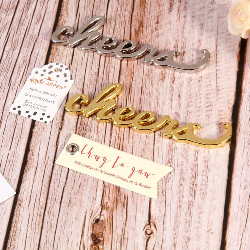 (50 أجزاء/وحدة) الجملة الزفاف زينة هتاف العتيقة الذهب زجاجة فتاحة الزفاف التذكارات لهذا الحدث و حزب BO037W