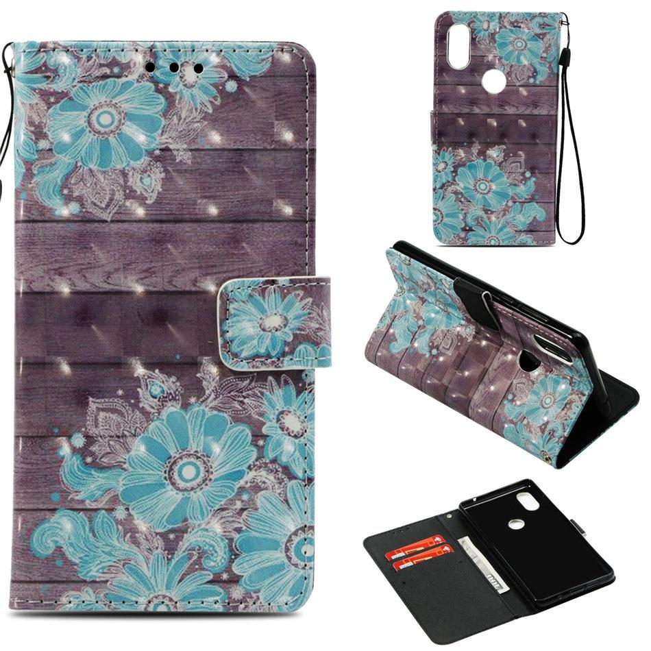 Casos de teléfono para Xiaomi 8 A2 5X A1 6X Mix2s Redmi Note 5 Pro 4A 4X 5A 5X Y1 Pony campanas búho cráneo Cartera de bolsillo de tarjeta cubierta E03Z